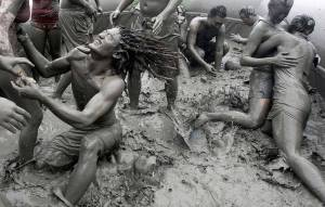 This photo isn't of me but it was pretty much just like this when I was in the mud mosh pit. So much mud!
