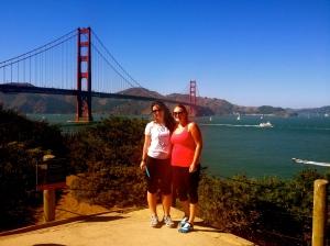 Just before we walked across the bridge!